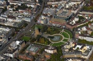 Mannheim Luftbild Wasserturmanlage
