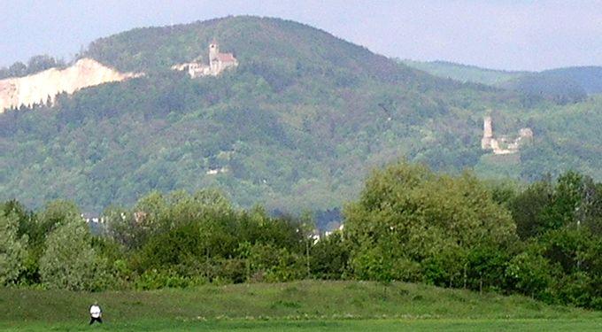 Weinheim Wachenberg Bergsilhouette