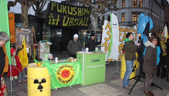 Heidelberg Mahnwache Fukushima