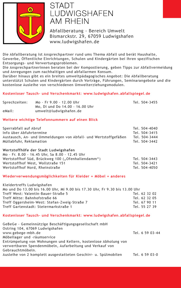 Abfall-Service - Ludwigshafen