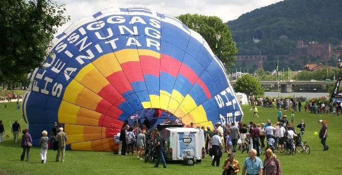 Heißluftballon Lebendiger Neckar
