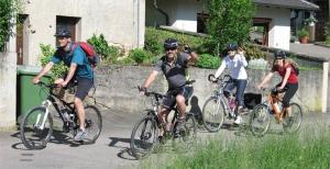 Radfahrer in Sinsheim-Reihen