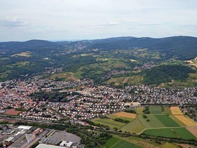 Bensheim Luftaufnahme