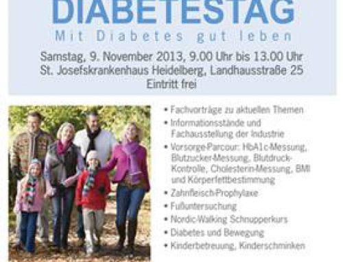 Als Diabetiker besser leben: 11. Heidelberger Diabetestag am St. Josefskrankenhaus