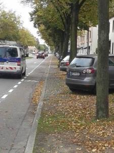 Schwetzingen Radfahrschutzstreifen Lindenstraße