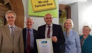 Weinheim Fair trade stadt Verleihung