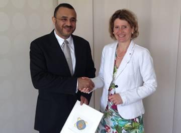 Ministerin Lemke mit Scheich Mohammed S. Al Harthy