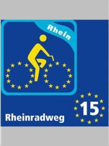 Rheinradweg Beschilderung