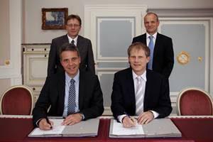 Gaskonzession Leimen Vertragsunterzeichnung