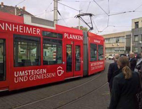 Mannheim: Plankenbahn wirbt für Shopping-Stadt