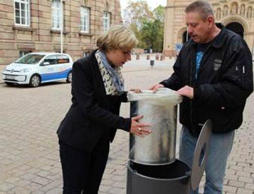 Speyer: Neue Abfallbehälter in der Innenstadt
