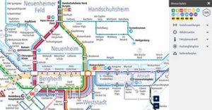 Digitaler Liniennetzplan