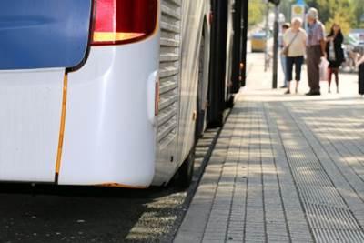 Blindenstreifen Bushaltestelle