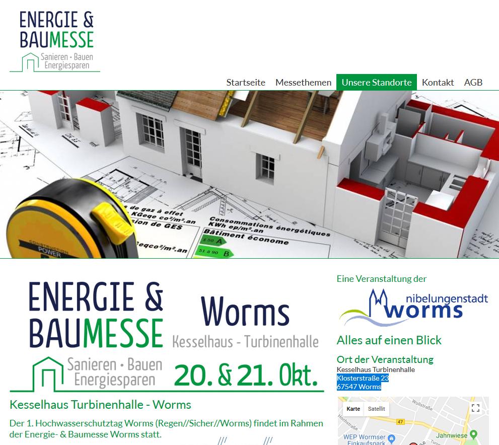 Energie- & Baumesse @ Worms, Kesselhaus Turbinenhalle | Worms | Rheinland-Pfalz | Deutschland