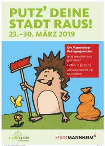 Plakat Reinigungswoche 2019 Mannheim