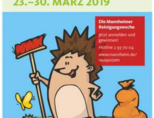 Mannheim: Jetzt anmelden zur Reinigungswoche 2019