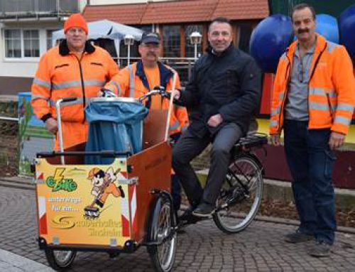 Sinsheim: Ein Lastenfahrrad für die Stadtreinigung