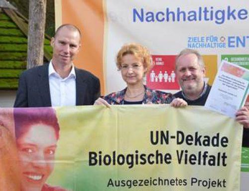 Zooschule Landau: erneute Auszeichnung als offizielles Projekt der UN-Dekade Biologische Vielfalt