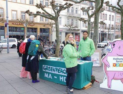 Greenpeace Mannheim – Heidelberg protestierte gegen umweltschädliches Billigfleisch