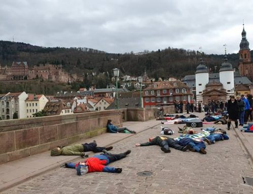 Heidelberg: Extinction Rebellion stirbt symbolisch für 1 Million Arten