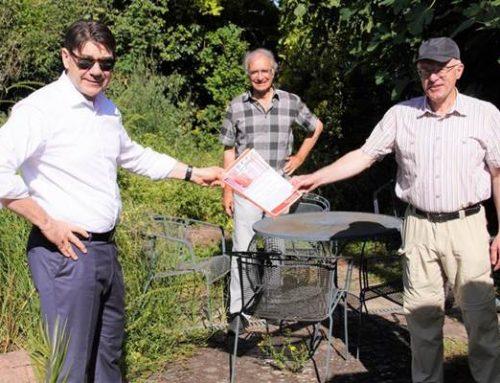Landau / Kleinfischlingen: OB Hirsch zum Austausch bei Aktion Südpfalz-Biotope