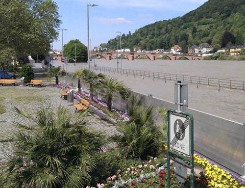 Heidelberg: Mobile Aluminium-Schutzwand gegen Hochwasser erweitert