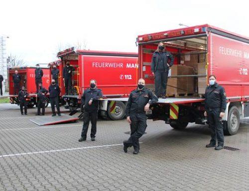 Mannheim: Feuerwehr verteilte 312.000 Schutzmasken an Alten- und Pflegeheime