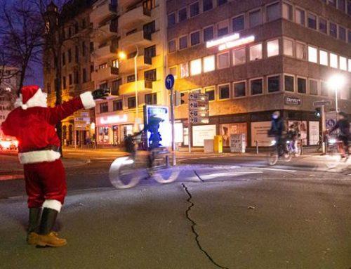 """Mannheim: """"Monnem Bike"""" schickte Nikolaus zum Beleuchtungs-Check"""