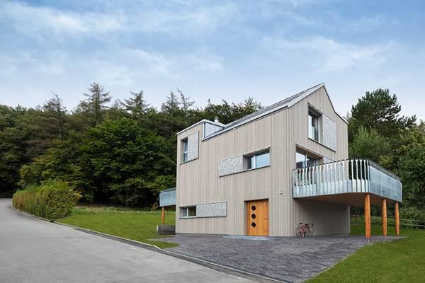 Waldsicht: Ökologisches Bauen mit gestalterischem Anspruch. Alle Fotos: Bau-Fritz GmbH & Co. KG