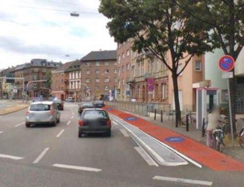 Mannheim: Protected Bike Lane als Teil-Lückenschluss am Luisenring