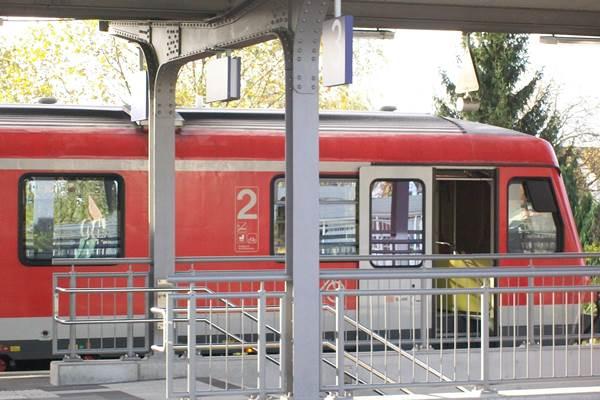 Regionalbahn in Bensheim