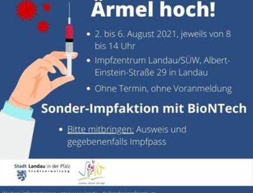 Landau / SÜW: Impfen ohne Termin im Impfzentrum – Impfbusse an Supermärkten