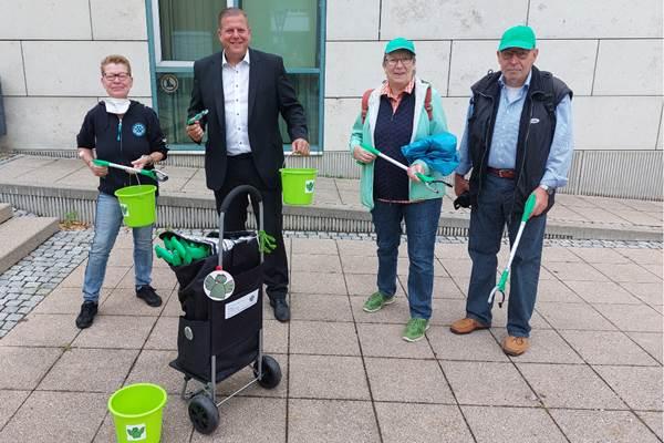 ecoGuide, Hockenheim, Müllsammelaktion, Grüne Engel