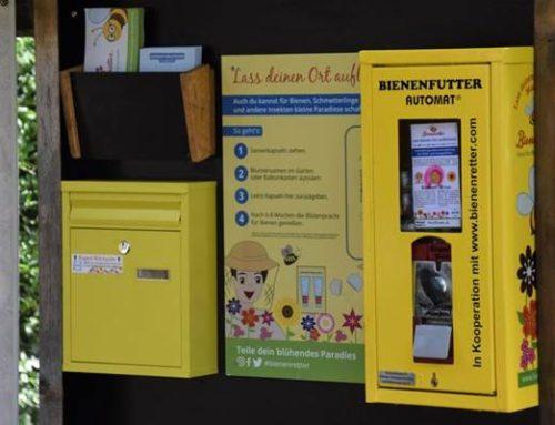 Landau: Blumensamen statt Kaugummis – neuer Bienenfutterautomat im Zoo