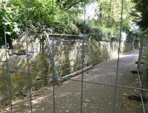 Landau: Festungsmauer unterhalb des Spielplatzes wird saniert